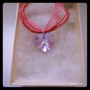 Jewelry - Electric Violet Crystal Heart Necklace